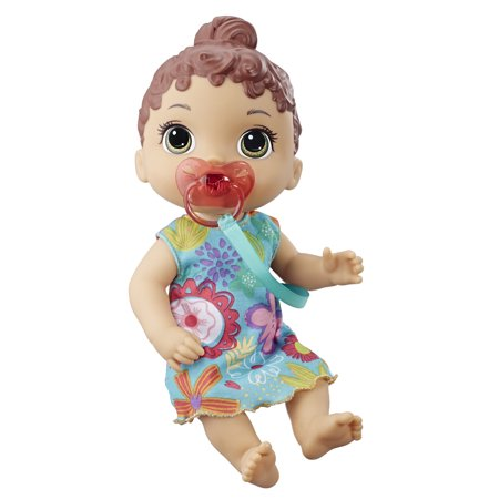 Baby Alive Baby Lil Sounds: Interactive Brown Hair Baby Doll