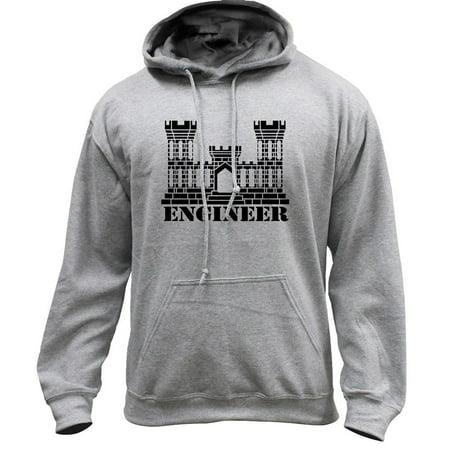 Army Engineer Branch Insignia Castle Veteran Pullover Hoodie Sweatshirt