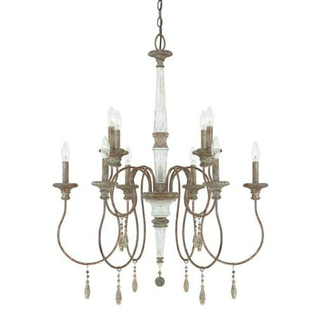 Allen Antique Lighting - Austin Allen & Company  Zoe Collection Brown Steel and Glass 10-light French Antique Chandelier