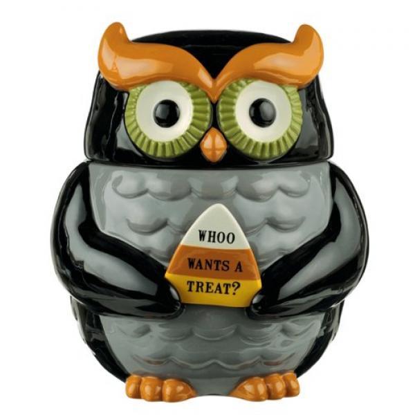 AMSCAN Grasslands Road Halloween Owl Cookie Jar