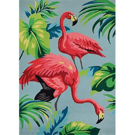 Couristan 61770220020040T 2 x 4 ft. Covington Flamingos Rug, Multi - image 1 of 1