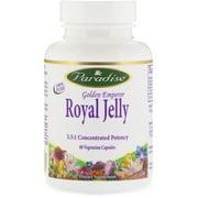 Paradise Herbs Golden Emperor Royal Jelly, 60 Vegetarian Capsules