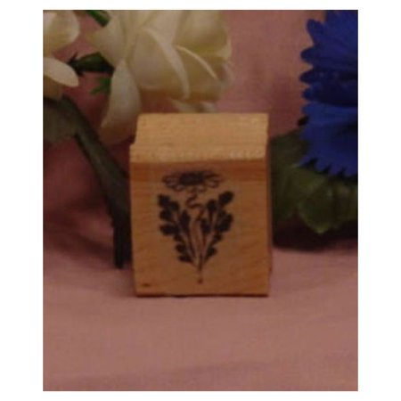 Maple Leaf Rubber Stamp (Daisy with Leaf Art Rubber Stamp)