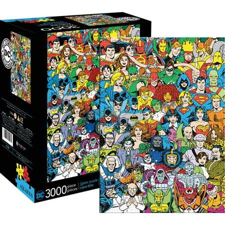 dc comics line up jigsaw puzzle 3000 piece contains. Black Bedroom Furniture Sets. Home Design Ideas