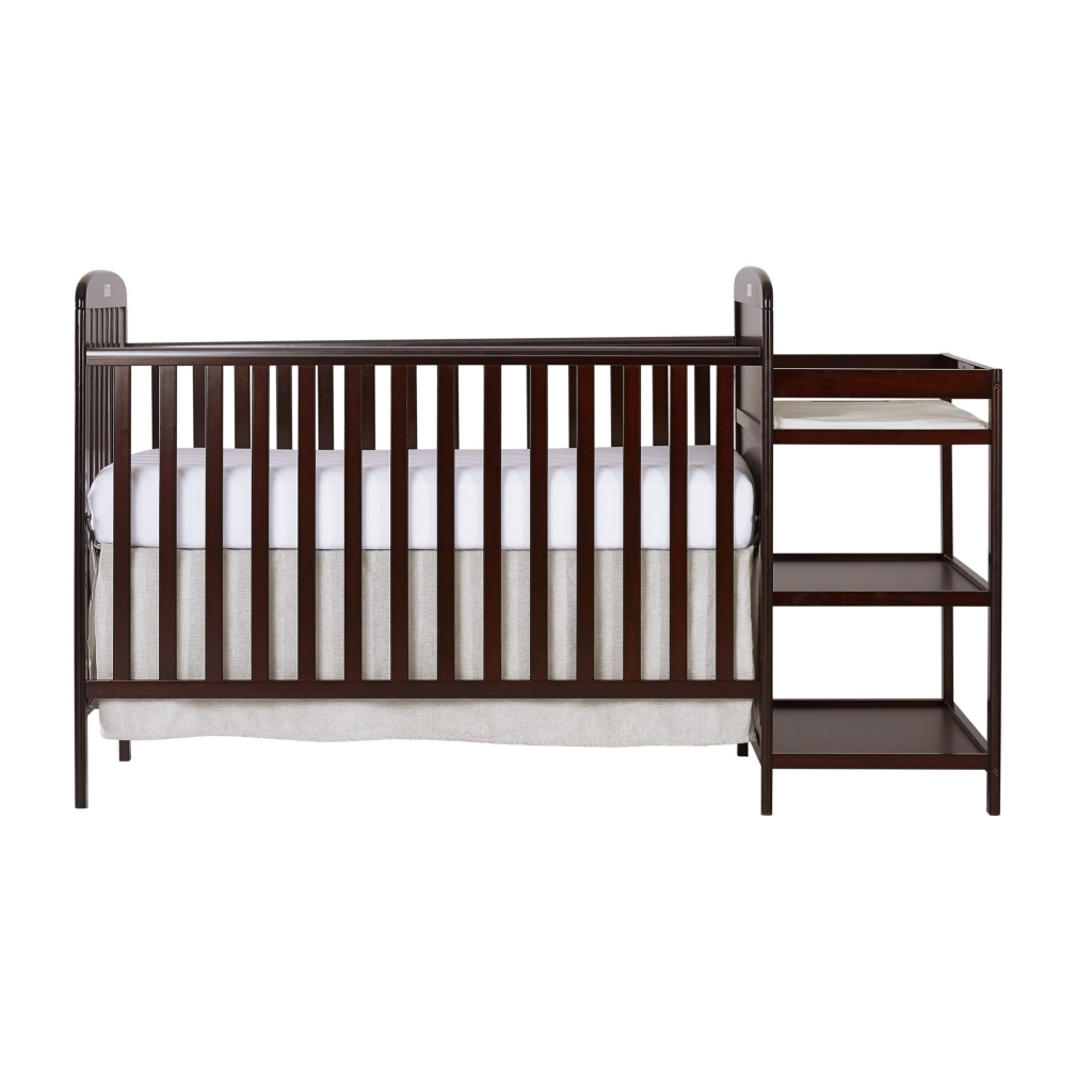 Dream On Me Anna 4-in-1 Full Size Crib And Changing Table Combo - Cherry