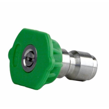 Erie Tools  3 0 Stainless Steel Orifice 25 Degree 1 4  Quick Connect 4 000 Psi High Pressure Washer Spray Nozzle Tip