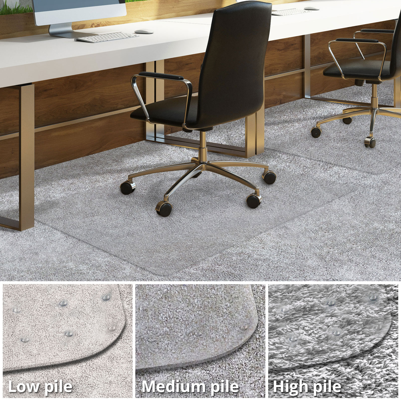 Office Chair Mat For Carpeted Floors Desk Chair Mat For