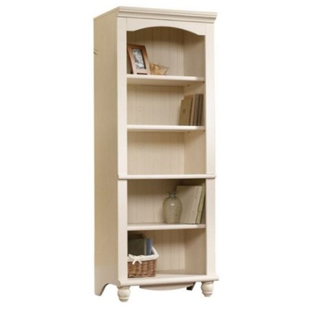 Antique Library (Bowery Hill Library 5 Shelf Bookcase in Antiqued White)