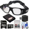 Coleman VisionHD G5HD-SPORT 1080p HD Action Video Camera Camcorder Waterproof POV Sports Safety Goggles with 32GB Card + Reader + Anti-Fog Cloth + Kit Coleman Vision HD G5HD <br> 1080p POV Sports Goggles The <b>Coleman Vision HD Video Recording Sports Goggles</b> let you capture your adventures from your own point-of-view. By placing a <b>integrated side-positioned 1080p HD video camera</b> beside the lenses, you are able to record hands-free video. Footage is recorded to a microSD memory card (not included). Safe for outdoor and indoor use, even in inclement weather and temperature extremes, the camera in these glasses is <b>waterproof to 3.3 feet (1m)</b>, <b>dustproof</b>, and can withstand <b>freezing temperatures down to -4degrees F</b>. The <b>dual-coated</b>, <b>anti-fog layered</b> lenses are also <b>shock and scratch resistant</b> to small impacts<b>.</b> <b>Built-in vibration alert</b> will let you know when you are recording and taking photos. The G5HD is suited for a variety of different team sports such as basketball, volleyball, soccer, lacrosse and any other sports related activities that requires hands-free recording. <br><br><b>Key Features:</b><br> <ul><li><b>5.0 mega-pixel camera</b></li><li><b>135-degree super wide angle lens</b></li><li><b>1080p full HD @ 30fps</b></li><li><b>720p full HD @ 60fps</b></li><li><b>Dual coated anti-fog / anti-scratch / UV protected lens</b></li><li><b>Waterproof up to 10 ft. (3.3m)</b></li><li><b>Freezeproof - 4 degrees F / - 20 degrees C</b></li><li><b>microSD card expandable to 32GB</b></li><li><b>Built-in 660mAh Li-ion battery</b></li><li><b>USB port</b></li><li><b>On/Off vibration alert</b></li></ul><br><br>Take more high-resolution pictures faster with this <b>32GB High-Capacity microSDHC</b> 300x Class 10 UHS-I memory card with included <b>SD Adapter</b>.<br><br>The <b>Lenspen FogKlear Dry Anti-Fog Cleaning Cloth</b> provides amazing anti-fog protection whenever you need it. This cloth can be used on camera le