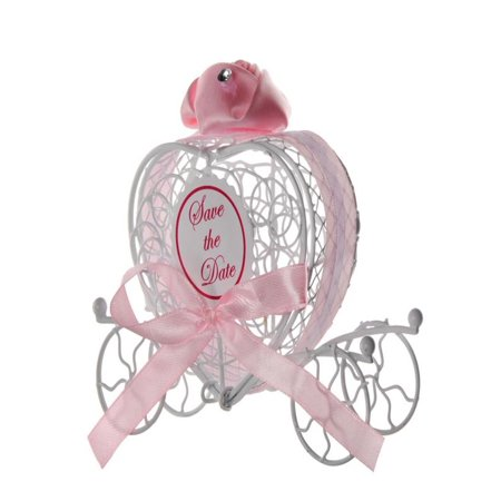 OkrayDirect 1pc New Candy Boxes Romantic Carriage Sweets Chocolate Box Wedding Party Favors ()
