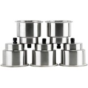 HYDDNice 5pcs Recessed Stainless Steel Cup Drink Holder with Drain for Boat Marine Camper RV Counter Top  Cup Drink Holder