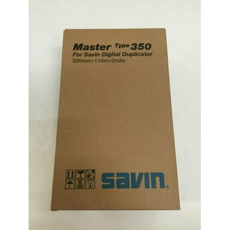 Savin Duplicator (New OEM Genuine Savin Master 350 2 rolls 4555 893021 for Digital Duplicator)