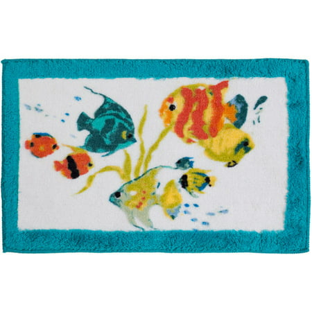 Creative Bath Rainbow Fish Rug, Multi-Color