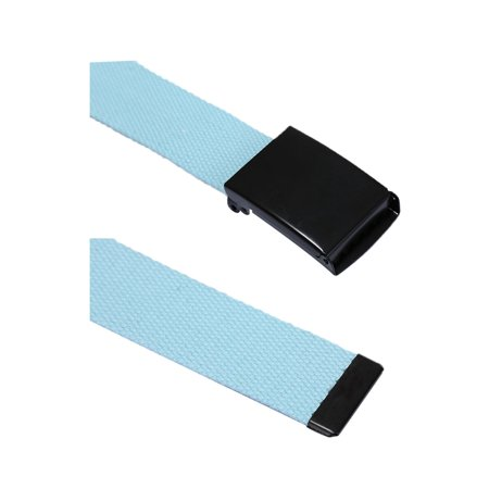 "Unique Bargains Unisex Slide Buckle Canvas No Holes Adjustable Waist Belt Width 1 5/8"" & 1 1/2"" - image 2 de 5"