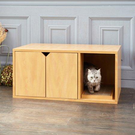 Way Basics Eco Friendly Cat Litter Box Enclosed Hidden Loo