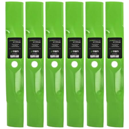 8TEN LawnRAZOR High-Lift Blade for John Deere 48 inch GT242 6 Pack