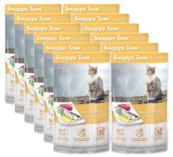 (12 Pack) Snappy Tom Naturals Tuna and Mackerel Grain Free Wet Cat Food, 3.5 Oz.