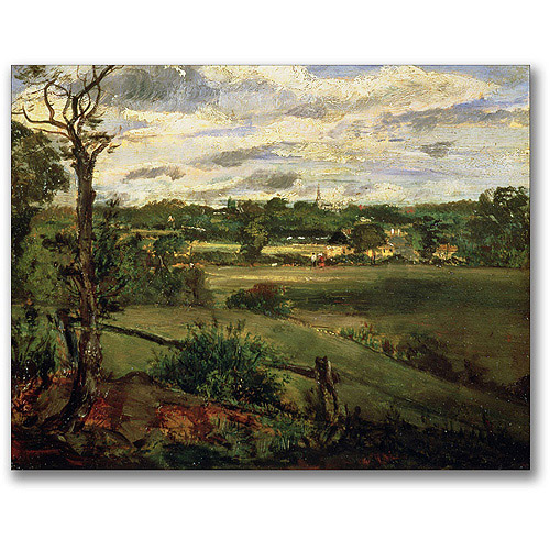 "Trademark Fine Art ""View Of Highgate From Hampstead"" Canvas Wall Art by John Constable"