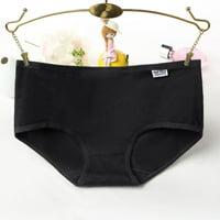 Women Solid Color Briefs Underwear