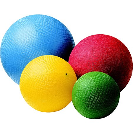 Sportime Rubber Playground Ball Set, Assorted Sizes, Assorted Colors, Set of 4 - Playground Ball