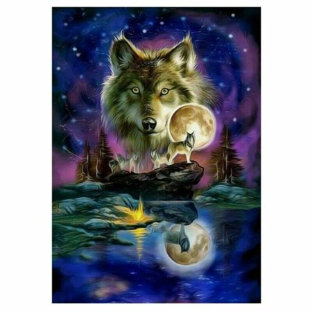 AkoaDa Moon Wolfs Full Drill 5D Diamond Painting Embroidery Cross Stitch Luxury