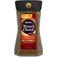 (2 Pack) NESCAFE TASTER'S CHOICE House Blend Medium Light Roast Instant Coffee 7 oz. Jar