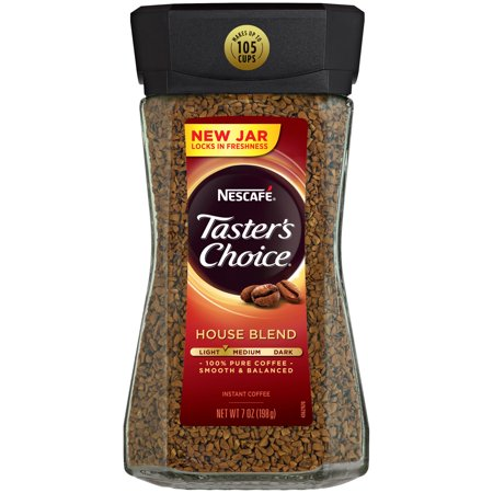 - NESCAFE TASTER'S CHOICE House Blend Medium Light Roast Instant Coffee 7 oz. Jar