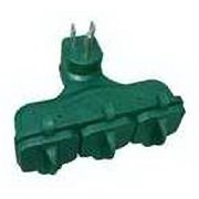 Master Electrician KAB-3FLU Green 3 Outlet Heavy Duty Outdoor Adapter