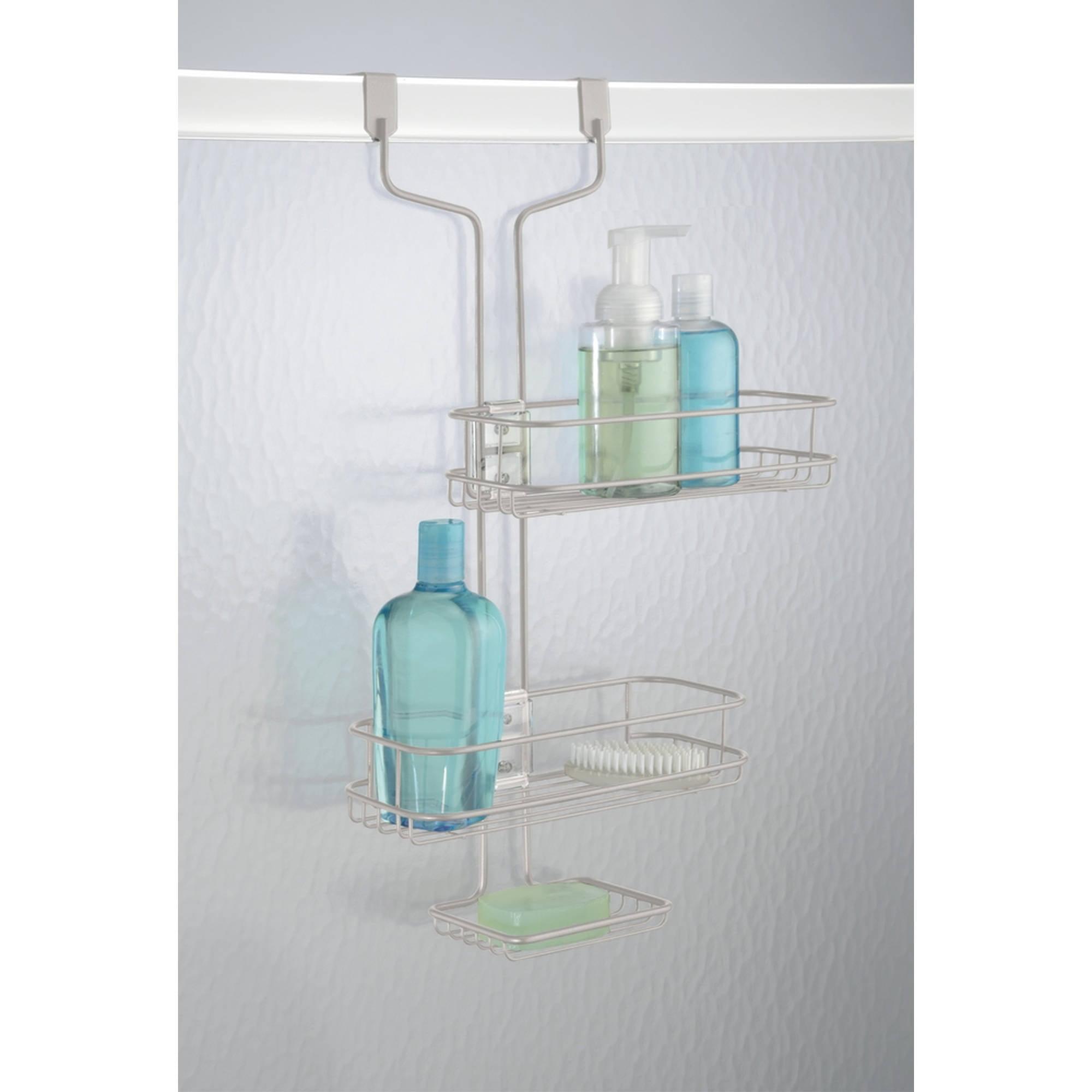 InterDesign Linea Adjustable Bathroom Over Door Shower Caddy, Satin by Generic