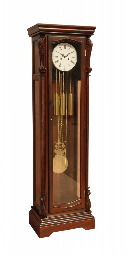 1PerfectChoice Dabney Grandfather Clock Westminister Chime Pendulum Glass Door Dark Walnut by 1PerfectChoice
