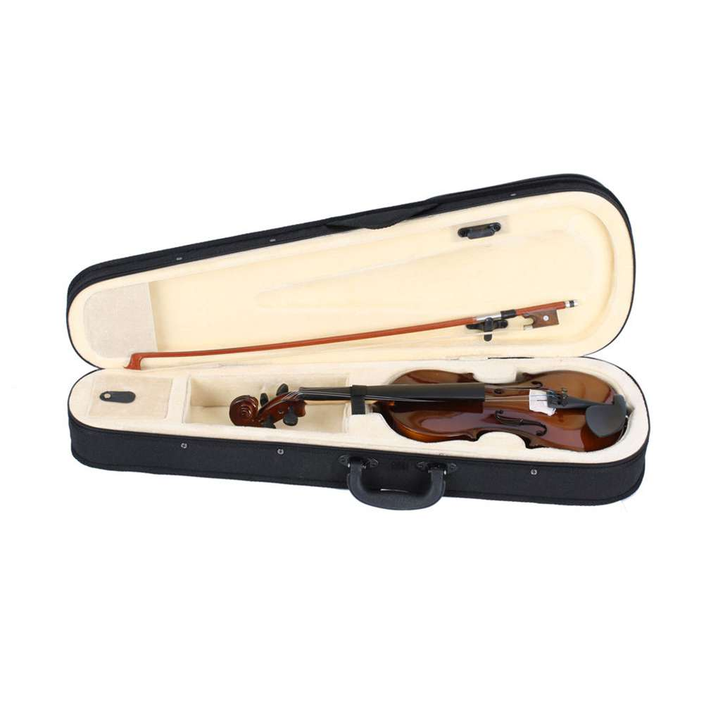 Layee 1//4 Acoustic Violin Fiddle Full Size with Bow Rosin Case for Beginner Adult Boys Girls Children Natural Color