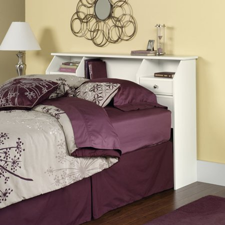 Sauder Shoal Creek Full Queen Bookcase Headboard  Soft White. Sauder Shoal Creek Full Queen Bookcase Headboard  Soft White