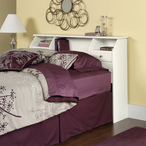 Sauder Shoal Creek Full/Queen Bookcase Headboard, Soft White