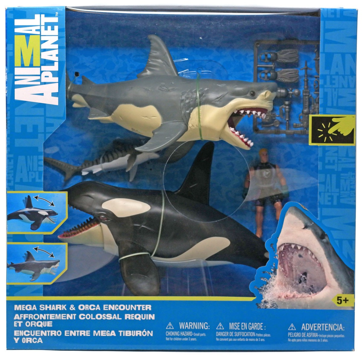 Animal Planet Mega Shark & Orca Encounter Playset by