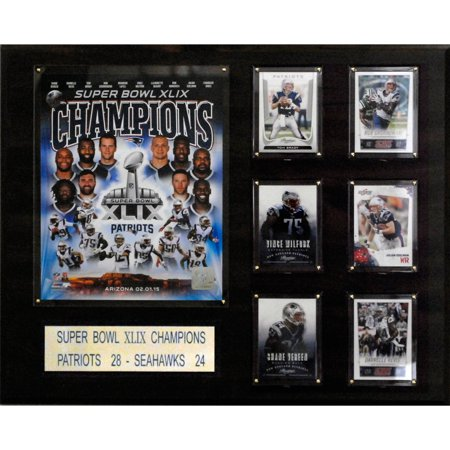C&I Collectables NFL 16x20 New England Patriots Super Bowl XLIXI Champions Plaque (New England Super Bowl 49 Pin)