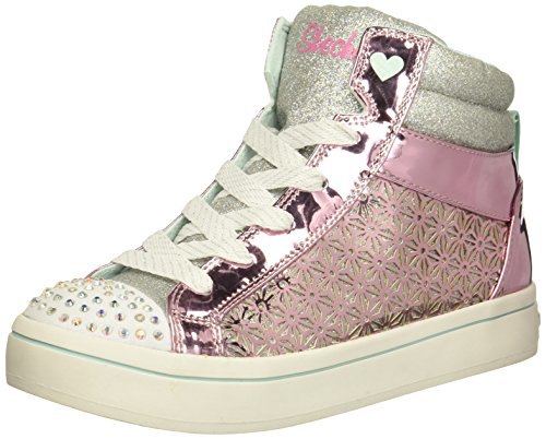 Skechers Kids Girls' TWI-Lites-Glitter-Ups Sneaker, Pink/Silver, Kid 13 Medium US Little Kid Pink/Silver, d8c6af