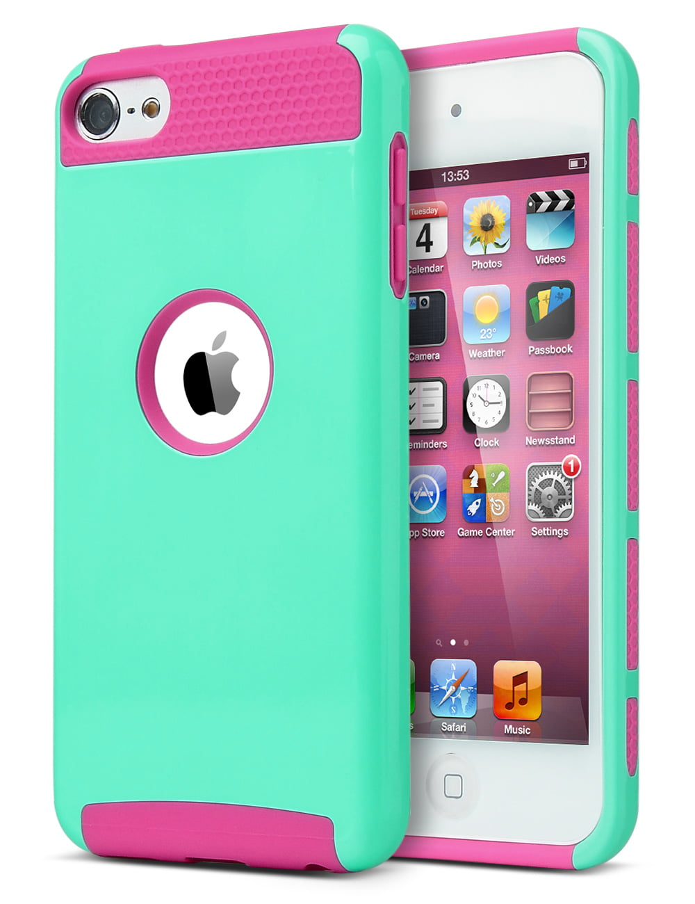 ULAK Slim Fit Protective iPod Touch 5 6 Case Dual Layer Hybrid Shockproof Cover For iPod Touch 5 5th Gen / 6 6th Gen