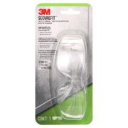 3M SecureFit 200 Safety Eyewear, Clear Anti-Fog Lens