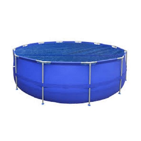 8 9 ft blue round floating solar cover for steel frame swimming pool