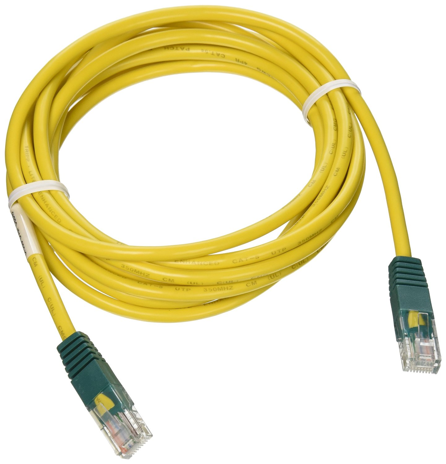 Tripp Lite 10ft Cat5e 350MHz Molded Cross-over Patch Cable (RJ45 M/M) - Yellow