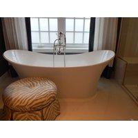 LAMINATED POSTER Bath Bathtub Interior Home Bathroom White Tub Poster Print 24 x 36