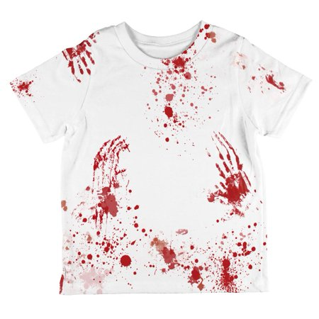 Halloween Blood Splatter All Over Toddler T Shirt](Halloween Blood Splatter Clothes)