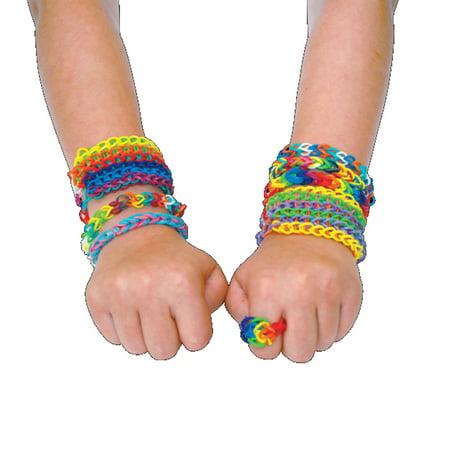 Rainbow Colorful Kids Loom Rubber Bands Bracelet Twist Band Diy Making Kit
