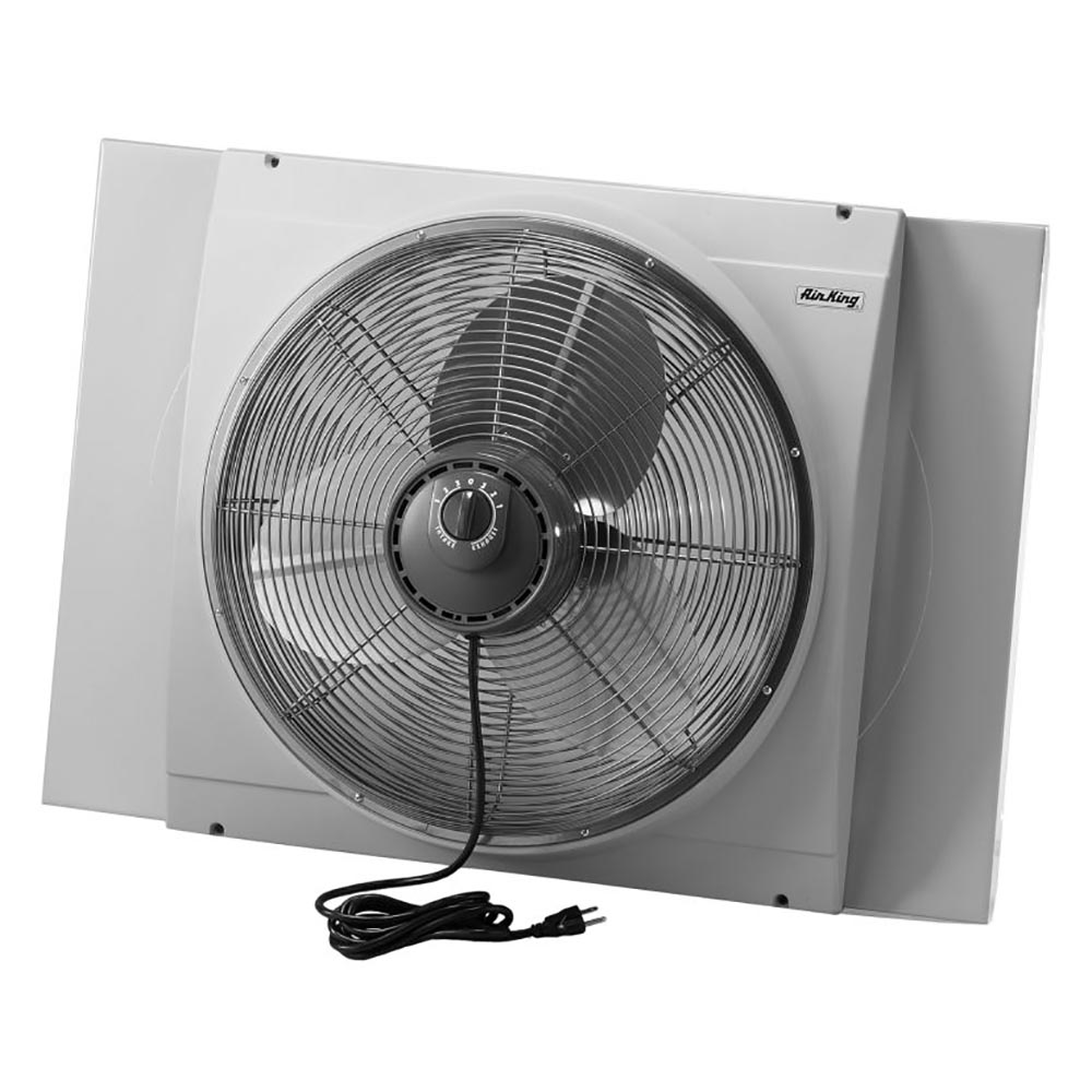 Air King 20 Inch Blades Whole House 120V 3 Speed Window Fan, Gray | 9166
