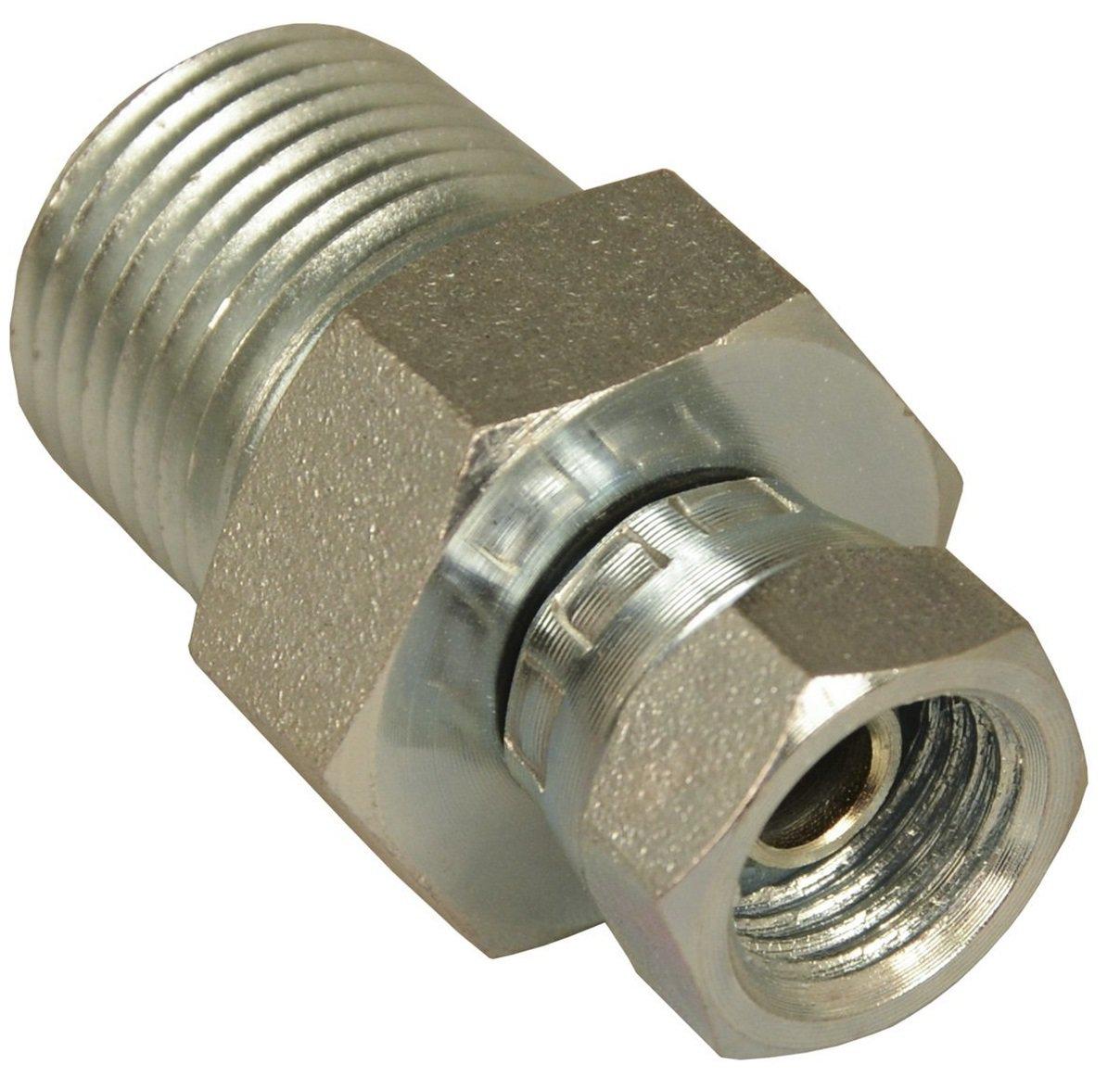 "APACHE HOSE & BELTING INC 39004325 1/2"" Male Pipe x 1/4"" Female Pipe Swivel, Hydraulic Adapter"