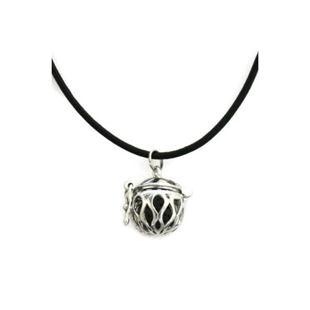 Angel Diffuser Necklace - Basic Black Essential Oil Diffuser Necklace- 18-20