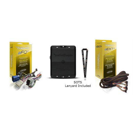 Rockford DSR1 8-Channel Signal Processor, FO2 T harness for select Ford Vehicles and HRN-AR-EXT2 2-meter extension cable ()