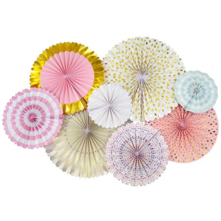 Just Artifacts Tea Time Pattern Paper Pinwheel Decorating Kit - Great for Weddings and Birthday - Paper Pinwheel