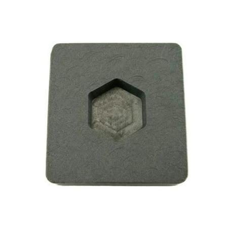 Make Your Own Gold Bars 1 oz Hex Mold 1 oz Gold Hexagon High Density Graphite Mold 0.5 oz Silver Bar Ingot Copper (Ingot Mold Copper)