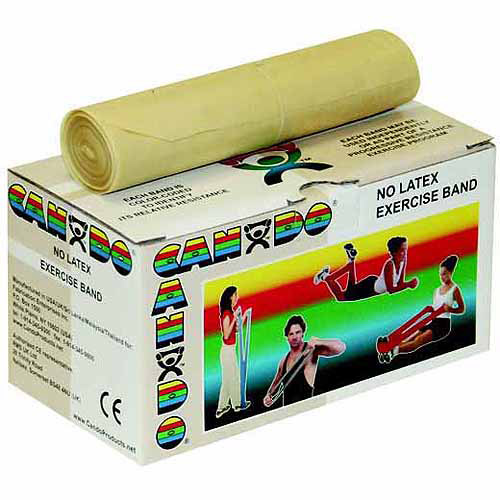 CanDo Latex Free Exercise Fitness Band Roll - 6 Yard